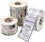 Zebra Label Kimdura Polypropylene 2.75x1.25in Thermal Transfer PolyPro 4000T 3 in core 10014717 (3' Transfer Thermal White)