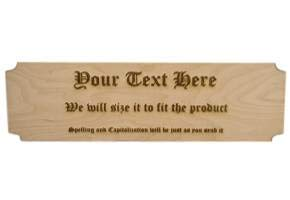 Wooden Sign, Your Message Laser Engraved on Baltic Birch Plywood, 24 inches Long by 7 inches Tall. ()