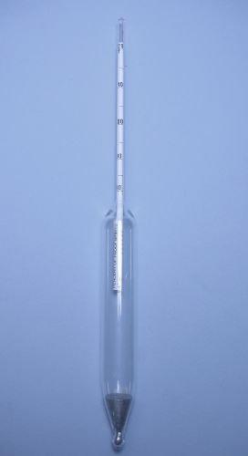 300mm Length Thomas Durac Specific Gravity Plain Form Hydrometer Heavier Than Water 1.000 to 2.000 Range