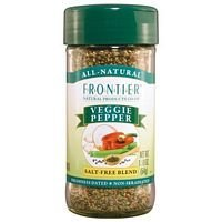 Frontier Herb Saltless Veggie Pepper - Seasoning Blend, 1.76 Ounce - 6 per case