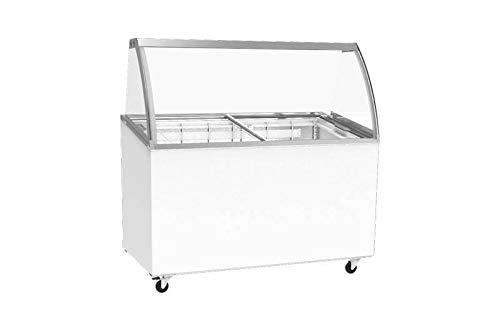 Vitrina móvil para helado, mostrador, puerta corredera de cristal ...