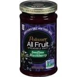 Polaner All Fruit Seedless Blackberry Spreadable Fruit 10oz (Pack of ()