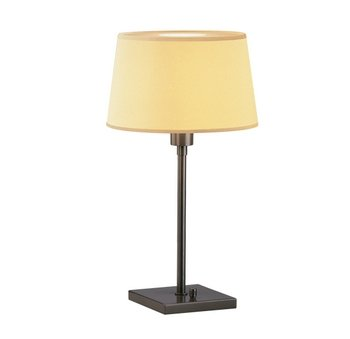 Robert Abbey Z1812 Lamps with Snowflake Fabric and Top Diffuser Shades, Deep Bronze Powder Coat Finish