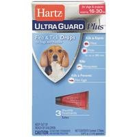 Hartz UltraGuard Plus Topical Flea & Tick Prevention for Dogs & Puppies 15-30 LBS