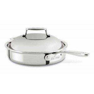 All Clad 2 qt. d7 Shallow Saute Pan with Domed Lid