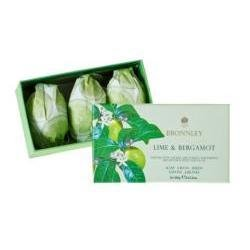 Lime and Bergamot Hand Soaps in Gift Box (3 pc) 100gea soap set by Bronnley (Box Bronnley)