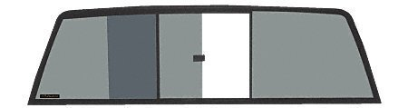 CRL Tri-Vent Three Panel Slider with Solar Glass for 1988-2000 Chevy/GMC C/K ...