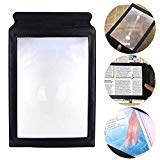 - Reading Magnifier for Senior, A4 Full Page 3X Magnifier Sheet Large Magnifying for Book Reading