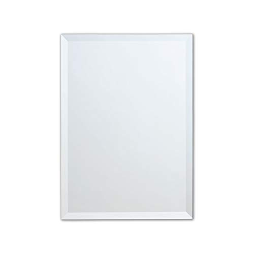 Better Bevel Frameless Rectangle Wall Mirror | Professional Grade Copper-Free Mirror | -