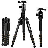 ZOMEI Z699C Carbon Fiber Portable Tripod with Ball Head Compact Travel for Canon,Sony, Nikon, Samsung, Panasonic, Olympus,...