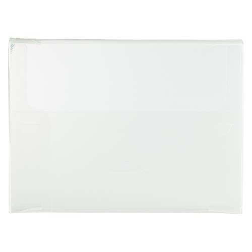 JAM PAPER Plastic Portfolio with Tuck Flap Closure - Letter Booklet - 9 1/2 x 12 3/8 - Clear Grid - Sold Individually