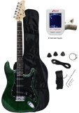 lectric Guitar Starter Package - Greenburst Color (Crescent Colours)