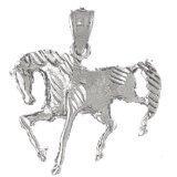CleverEve 14K White Gold Pendant Horse 2.8 Grams
