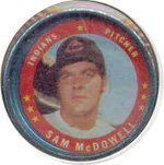 1971 Topps Topps Coins (Baseball) Card# 86 sam mcdowell of the Cleveland Indians VG Condition