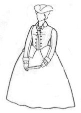 [1700's Colonial Riding Habit Pattern (Sizes XL - XXL)] (Colonial Costumes 1700)