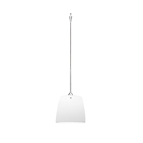 WAC Lighting QP-LED513-WT/CH Ella Quick Connect LEDme Pendant with White Shade and Chrome Socket - Connect Quick Ella