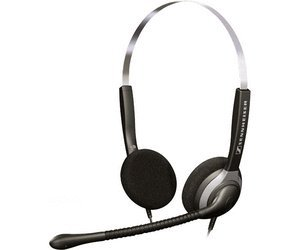Sennheiser Over-the-Head SH250 Double-Sided Headset with Omni-Directional Microphone - Black - 500223
