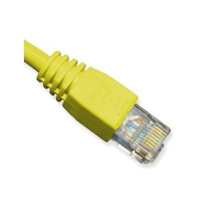 (ICC Patch Cord, Cat 6 Booted, 1 FT, Yellow)