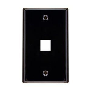 Signamax 1 Port Single-Gang Black Wall Plate