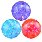 LIGHTS UP! Water-Filled Bouncy Balls which spark light when they bounce! Frozen-Inspired Colors (3-Pack 1 of each color) (Flash Bouncing Ball)