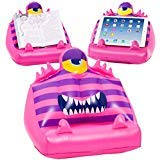 Bookmonster Air Garlie - pink - Reading Cushion: Inflatable reading pillow for books and tablets