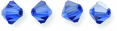 Swarovski Elements 5301 Bicone Diamond Beads, Capri Blue, 4-mm, 48/Pack