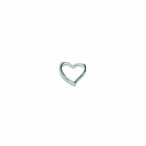 Shipwreck Beads Pewter Floating Heart Pendant, Metallic, Silver, 16mm, 4-Piece (Ssp Charm)