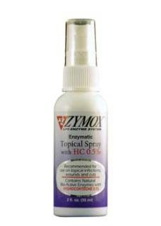 Zymox Topical Cream - ZYMOX Topical Spray with 0.5 Hydrocortisone (2 oz)