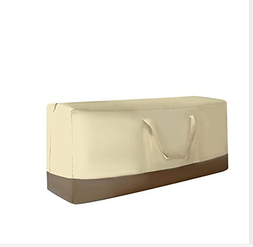 Rylod Patio Cushion Storage Bag,Rectangular Cushion Cover Storage Bag,Weather Resistant Outdoor Patio Furniture Cover with Handles Protective Zippered Storage Bag (59.8 Lx28 in Hx20 in W, Khaki)