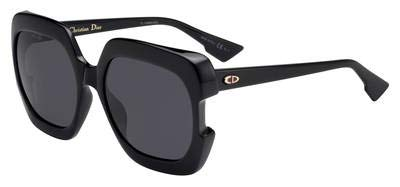 Christian Dior Gaia sunglasses 807IR Black/Grey lenses new