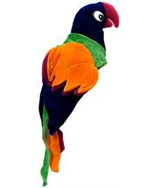 Mens Bird Costumes (Jacobson Hat Company Men's Velvet Parrot Hat, Multicolor, Adult)
