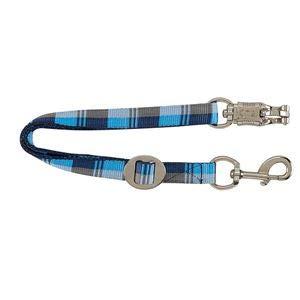 Dover Saddlery Plaid Trailer Tie, Blue/Grey Plaid