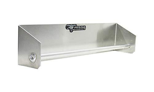 - Pit Posse - Garage/Trailer Tie-Down Hanger Storage Organizer - Race Car Enclosed Trailer Shop NHRA Aluminum - Hangs on Garage Walls, Drywall, Wood or Steel Trailer Studs -Silver