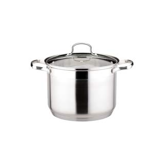 Josef Strauss Le Stock Pot 4 Quart Stockpot | Tempered Glass Lid, Induction Compatible, Oven and Dishwasher Safe, 18/10 Stainless Steel Construction ()