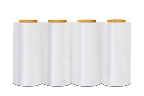 - Stretch Film Wrap, Heavy Duty Shrink Wrap Roll, Clear, 12 Inch x 2000 Feet, 60 Gauge, 4 Pack
