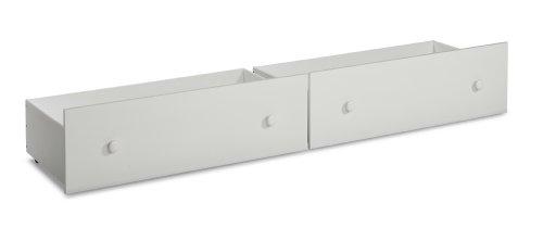 Canwood Trundle Storage Drawer, White (Trundle Storage Drawers)