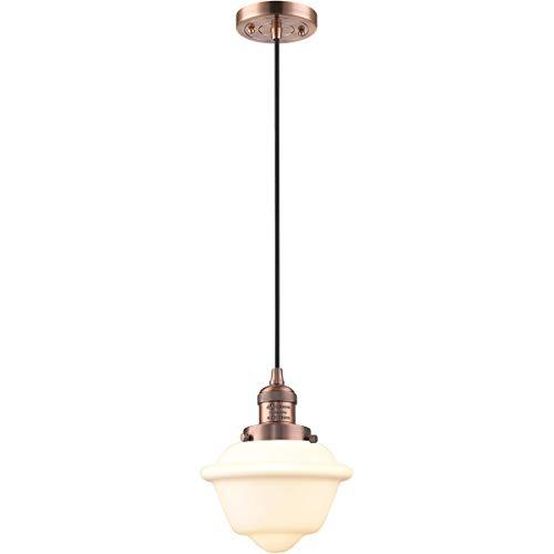 Mini Pendants 1 Light Fixtures with Antique Copper Finish Cast Brass Glass Material Medium 8