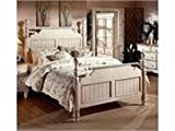 Hillsdale Furniture Wilshire Queen Post Bed Set in Antique White 1172BQR