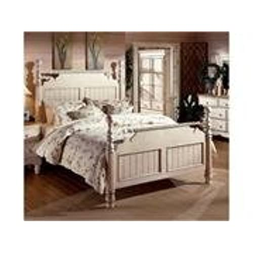 Hillsdale Furniture 1172BQR Wilshire Post Bed, Antique White