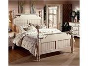 Hillsdale Furniture Wilshire Queen Post Bed Set in Antique White 1172BQR - Old World Hillsdale Furniture