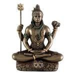 Top Collection Hindu God Lord Shiva in Meditation Bronze Finish Figurine Sculpture Statue