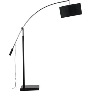 BLACK ORGANZA EXTENDABLE FLOOR LAMP: Amazon.co.uk: Kitchen & Home