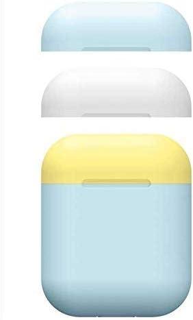 ZON Estuche Airpods, Estuche de Piel de Silicona con Apple Airpods 2/1 Estuche de Carga de Color Caramelo. [3 Tapas y 1 Cuerpo] (Azul Claro): Amazon.es: Deportes y aire libre