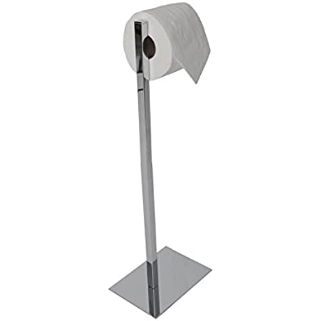 Valsan 53532NI Essentials Polished Nickel Freestanding Rectangular Base Toilet Paper Holder