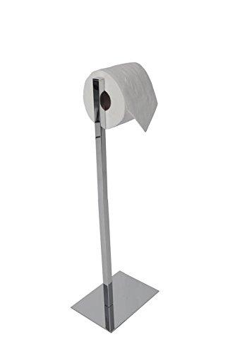 Valsan 53532CR - Essentials Chrome Freestanding Rectangular Base Toilet Paper Holder