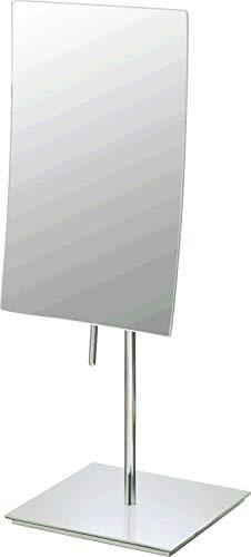 Mirror Image 82273 Minimalist Rectangular Vanity Mirror, 3X Magnification, Brushed Nickel (Kimball & Young Vanity Stand)