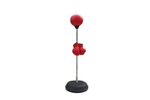 Rakon Punching Bag for Adults and Kids with Boxing Gloves and Stand,Height Adjustable Boxing Set