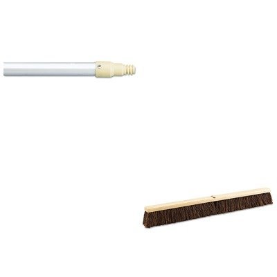 KITBWK20136RCP6355GRA - Value Kit - Boardwalk Floor Brush Head (BWK20136) and Rubbermaid-Gray Aluminum With Plastic Threaded End (RCP6355GRA) by Boardwalk