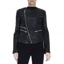 online store 150eb b55d6 Giubbino Pelle Twin Set PS72AN Nero: Amazon.it: Abbigliamento