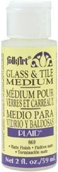 Bulk Buy: Plaid FolkArt Glass & Tile Medium 2 Ounces 869...